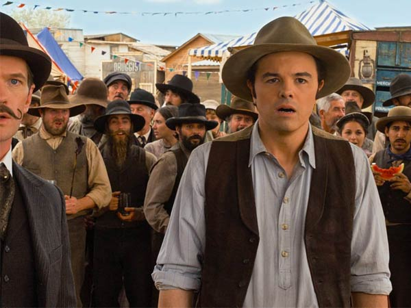 """Seth MacFarlane directs, produces, co-writes and plays the role of the cowardly sheep farmer Albert in """"A Million Ways to Die in the West."""""""