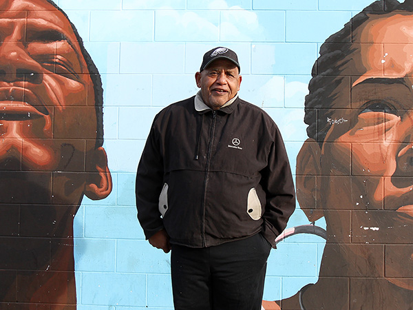 Milton Street, who is running for mayor of Philadelphia, poses near 22nd and Lehigh in Philadelphia, Pa. on January 13, 2015.  ( DAVID MAIALETTI / Staff Photographer )