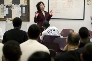 This photo of former DHS supervisor Valerie Mond accompanies a CourierPostOnline.com story about Community Education Centers.