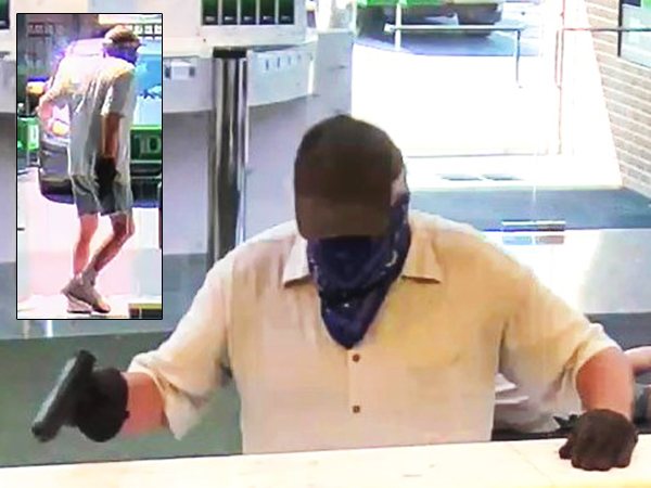 Police and the FBI are looking for this man, who was caught on camera Friday morning robbing a TD Bank in Hatboro.