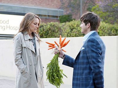 "Natalie Portman and Ashton Kutcher star in ""No Strings Attached,"" a flick about dating in the post-courtship era. Some girls, after all, like carrots."