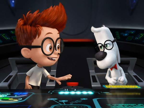"In ""Mr. Peabody & Sherman,"" an adaptation of the 1960s cartoon, Max Charles voices the kid and Ty Burrell the brainy beagle."