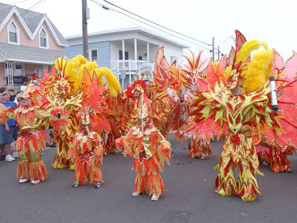Mummers from this year´s New Year´s Day Parade will take to the streets in North Wildwood, NJ this weekend for Mummers Brigade Weekend. (Photo via Facebook)
