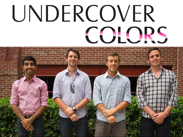 Undercover Colors, which is working to develop a nail polish that can detect date-rape drugs, was started by four young men who met as students at North Carolina State. They are Ankesh Madan, Stephen Gray, Tasso Von Windheim, and Tyler Confrey-Maloney.