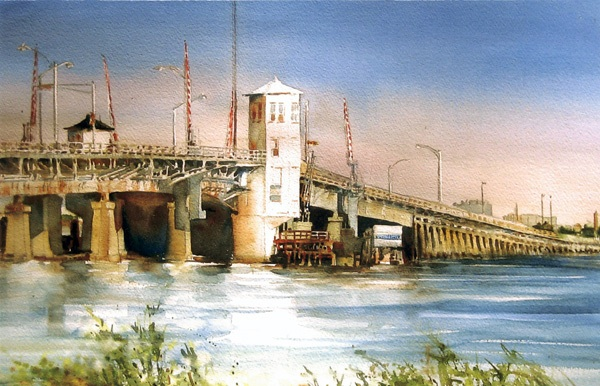 Route 52 Ocean City Bridge, by Marie Natale.
