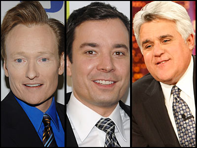 From left: Conan O´Brien, Jimmy Fallon and Jay Leno.