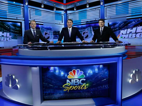 NHL Live, airing on the NBC Sports Network, is now produced in the new Stamford complex. Here is the NHL Live team of Liam McHugh, Mike Milbury and Keith Jones. The NBC Sports headquarters employees are expected to relocate there this summer.
