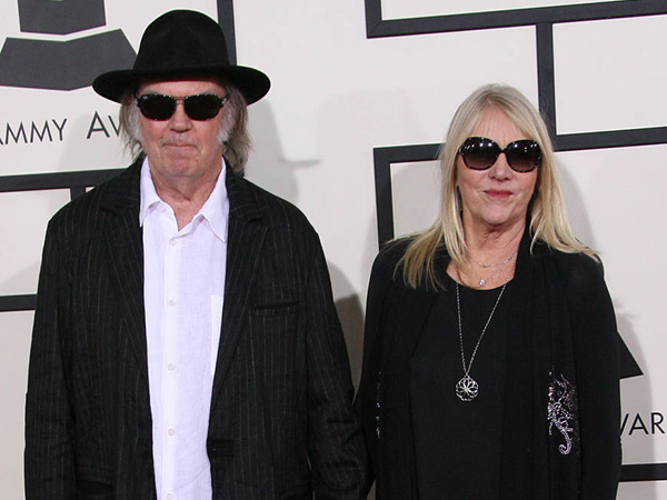 Neil Young & Pegi Young attends the 56th Annual GRAMMY Awards (2014) held at the Staples Center in Los Angeles, CA.