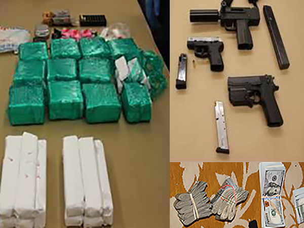 Police said drugs, firearms and cash were recovered during a crackdown along the Lancaster Pike corridor.