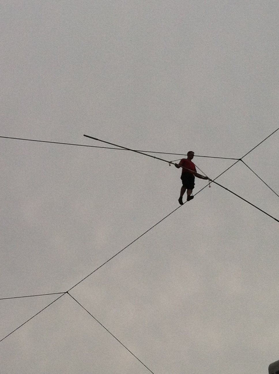UPDATE: Thumbs up: Nik Wallenda\'s the man on a sandy wire in ...