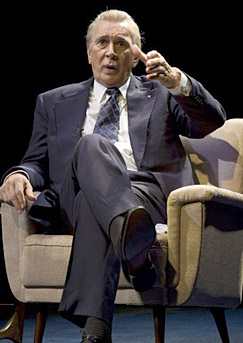 "Frank Langella as the 37th POTUS in ""Frost/Nixon."""