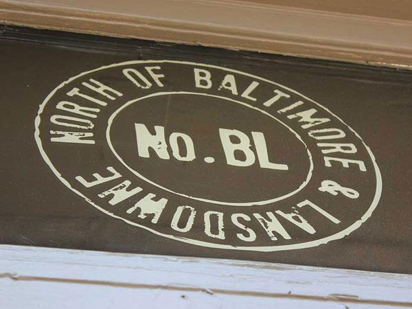 Sign over door of NoBL