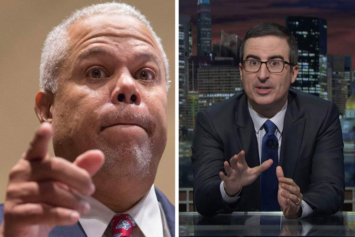 "Anthony Hardy Williams (left) took umbrage with HBO´s John Oliver over the ""Last Week Tonight"" host´s comments about Pennsylvania´s charter school system."
