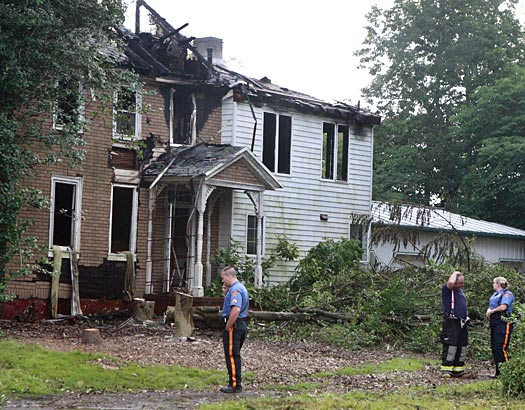 The Gloucester County Fire Marshall and representatives of the county prosecutors office were investigating the cause of a two-alarm blaze that nearly gutted at vacant home at 519 N. Delsea Drive in Clayton.