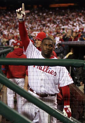 Ryan Howard lets everybody know: One more to go.