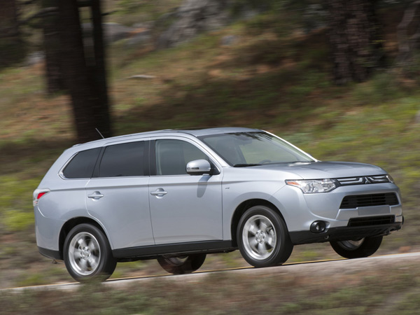 The 2014 Mitsubishi Outlander has three rows of seating, as opposed to the usual two for its segment. (Mitsubishi/MCT)