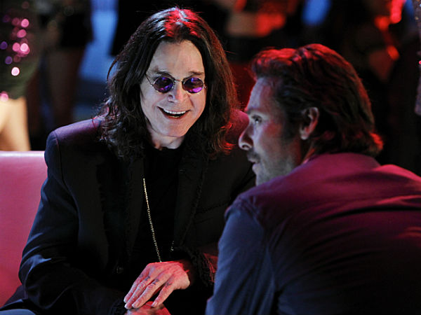 "Ozzy Osbourne (left) with James Callis in Wednesday´s Season 13 finale of ""CSI"""