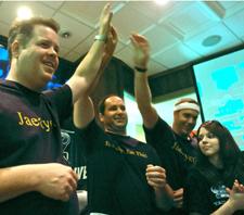 Paesano´s staffers celebrate the victory.