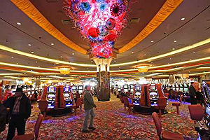The middle of the gaming floor at Parx Casino in Bensalem. The current, larger version opened late last year.