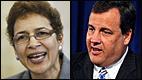 Paula Dow and Gov. Christie
