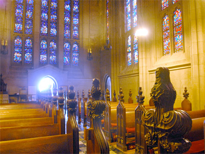 A view inside Washington Memorial Chapel at Valley Forge National Historical Park. (April Saul / Staff Photographer)