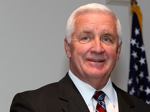 Democrats welcomed news that Gov. Corbett - who had previously staked a position as a social conservative - would support a bill to bar discrimination on the basis of sexual orientation, while some conservatives assailed him for selling out on Republican principles. (Steven M. Falk / Staff Photographer/File)