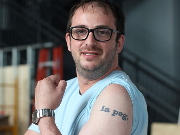 Chef Peter Woolsey, creating La Peg restaurant on Delaware Avenue for FringeArts, wears his heart on his ... arm.