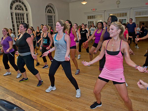 A scene from one of the workshops of the 2012 Philadelphia Dance Day.