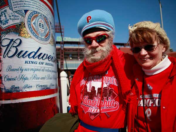 There is a lot more than Bud available at Phillies games.