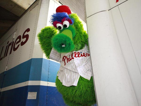 A 53-foot truck was packed to the brim with Phillies spring training necessities including a tricycle, wedding dress, 15 cases of gum, 12 cases of sunflower seeds, desks, exercise machines, 450 pair of socks and 2,400 baseballs on Feb. 6, 2013. It will take the driver two days to travel from Citizens Bank Park to its destination in Clearwater, FL. ( Hillary Petrozziello / Staff Photographer )