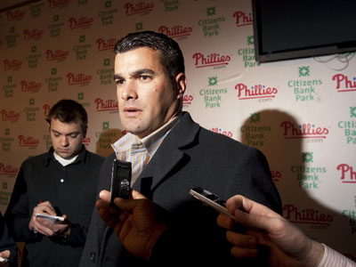 The Phillies officially announced a 2-year, $5.25 million deal with reliever Danys Baez. (Ed Hille/Staff Photographer)