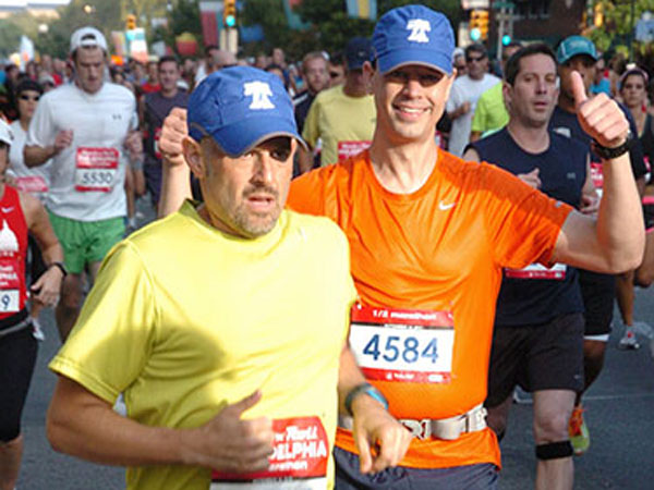 Two Philly Runners at the September Half-Marathon.