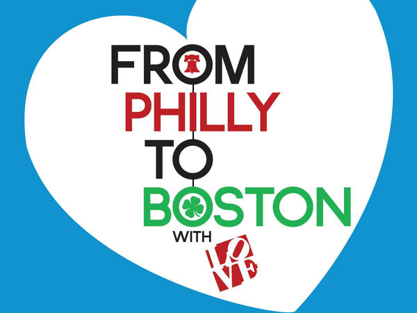 Runners will receive this sticker in their race kit to wear over their hearts as they run down Broad Street to honor the Boston Marathon bombing victims.