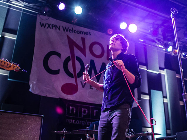Phoenix performing at the downstairs venue of World Cafe Live for NonComm. (Colin Kerrigan / philly.com)