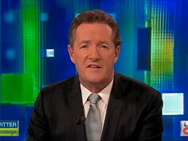 Piers Morgan hosts on CNN. (Photo via CNN)