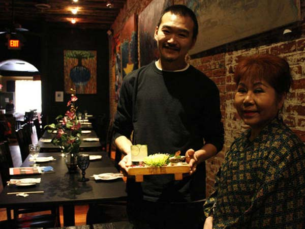 Madame Saito helped her old friend Ryo Igarashi by lending him her space at 122-124 Lombard St. for the pop-up.  SHUMITA BASU / Staff Photographer