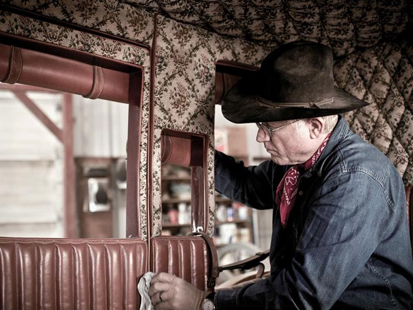 J. Wilson Stagecoach Works, Paradise, Texas. Tadd Myers/Portraits of the American Craftsman