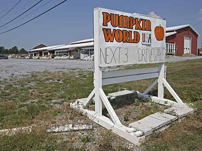 Pumpkin World USA, a roadside produce attraction north of Hershey, is on the 27-acre tract the Hershey School bought. (Michael Bryant/Staff)
