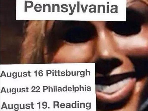 """Earlier this week, rumors began surfacing that Philly would soon be """"purged"""" in a 12-hour period of lawlessness like in """"The Purge."""" (Photo via Twitter)"""