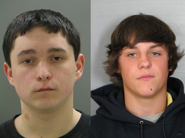 Stephen Dunfee, 20 (left), and Devin Holt, 19.