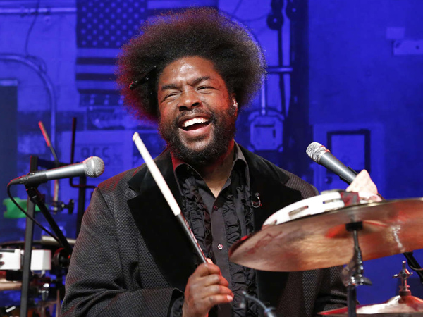 "Questlove on ""Late Night with Jimmy Fallon."" (Photo by: Lloyd Bishop/NBC)"