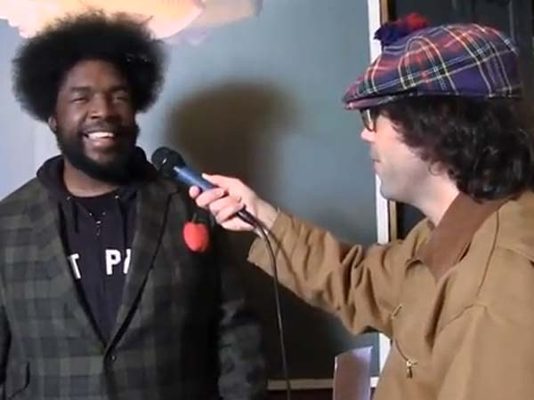 Questlove from the Roots gets interviewed by Nardwuar the Human Serviette