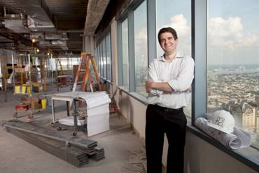 Chef-owner Daniel Stern in the space that will be R2L.