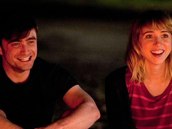 "Daniel Radcliffe and Zoe Kazan enjoy a moment in ""What If."" (F Word Productions Inc.)"
