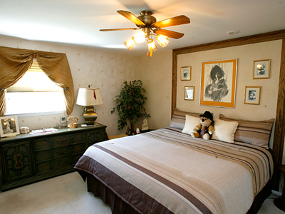 The master bedroom of the home Jack and Anna Coben have lived in for 25 years. (Charles Fox / Staff Photographer)