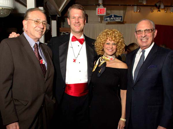 Stu Bykofsky (Columnist, Philadelphia Daily News), Paul Steinke (General Manager, Reading Terminal Market) Sharon Pinkenson (Executive Director, Greater Philadelphia Film Office) with husband, Joseph Weiss.  The Valentine to the Market Gala, Saturday, February 23, 2013. ( Al B. For / Philly.com )