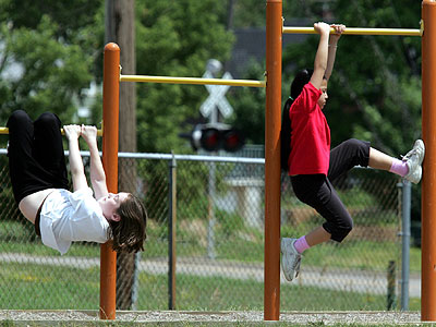 Keeping kids active is one way to keep diabetes at bay. (AP Photo/Eric Miller)