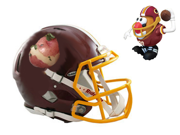 Here&acute;s an idea: Instead of changing the name &quot;Redskins,&quot; change the image to a red-skinned potato! The team already sells a Redskins Mr. Potato Head (top right).<br />