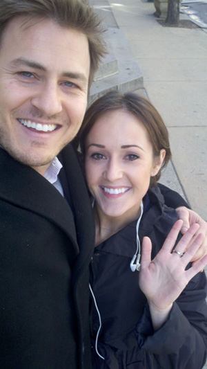 """Bachelor"" contestant Reid Rosenthal and new ""Bachelorette"" Ashley Hebert in Center City about two weeks ago."
