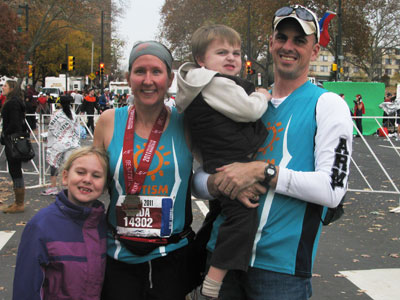 "Linda Reilly runs for her son. Alexander, 5, was diagnosed on the autism spectrum before his second birthday. Since that time, Linda and her family have done everything in their power to keep Alexander, in her words, ""as involved as possible."""